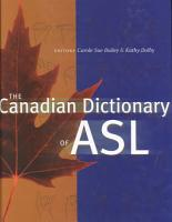 The Canadian Dictionary of ASL PDF