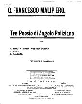 Tre poesie di Angelo Poliziano (1920): per canto e pianoforte