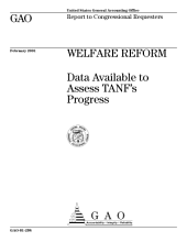 Welfare reform data available to assess TANF's progress.