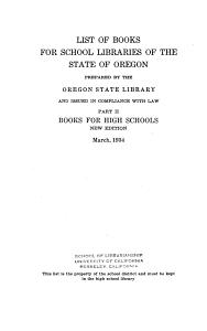 Books for High Schools PDF