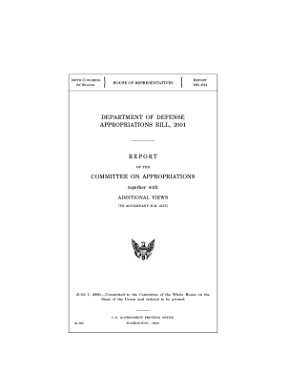 Department of Defense appropriations bill  2001  report of the Committee on Appropriations together with additional views  to accompany H R  4576   PDF