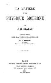 La matière et la physique moderne