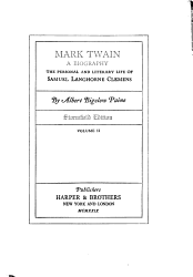 Mark Twain  a biography  The personal and literary life of Samuel Langhorne Clemens  by Albert Bigelow Paine PDF