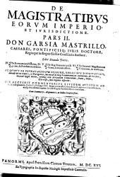 De Magistratibus, eorum Imperio et Iurisdictione
