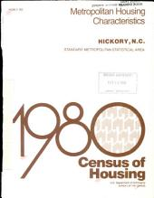 1980 census of housing: Metropolitan housing characteristics. Hickory, N.C.