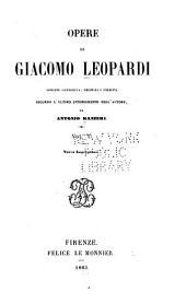 Opere di Giacomo Leopardi: Volume 1
