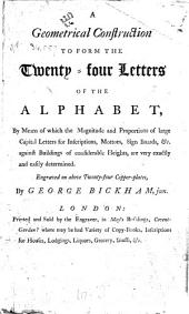 A geometrical construction to form the twenty-four letters of the alphabet ... Engraved on above twenty-four copper-plates