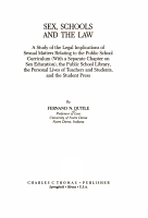 Sex  Schools  and the Law PDF