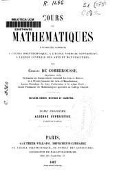 Cours de Mathematiques: Algèbre supérieure, Part 1