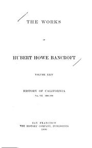 The Works of Hubert Howe Bancroft  History of Nevada  Colorado  and Wyoming PDF