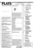 Plays International PDF