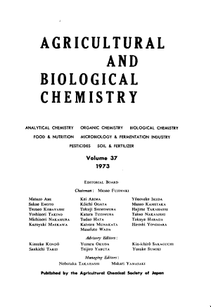 Agricultural and Biological Chemistry
