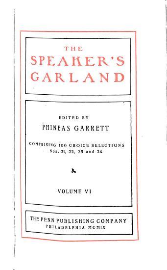 The Speaker s Garland PDF