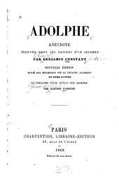 Adolphe: anecdote trouvée dans les papiers d'un inconnu
