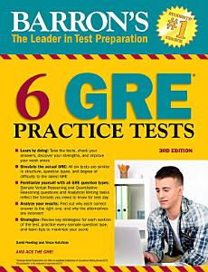 6 GRE Practice Tests Book