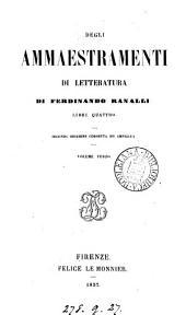 Degli Ammaestramenti Di Letteratura: Volume 3