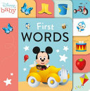 First Words  Disney Baby  9 Tabbed Board Book