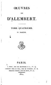 Œuvres de d'Alembert: Volume4