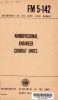 Nondivisional Engineer Combat Units PDF