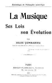 La musique, ses lois, son évolution