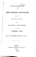 On the constitution of the Church and State  according to the idea of each PDF