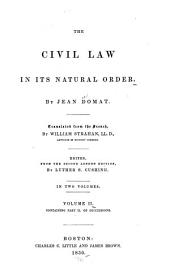 The Civil Law in Its Natural Order: Volume 2