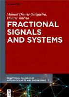 Fractional Signals and Systems PDF