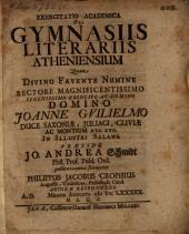 Exercitatio acad. de gymnasiis litterariis Atheniensium