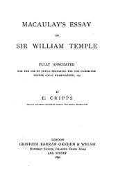 Macaulay's Essay: On William Lewrple Fully Annotated for the Use of Pupils Preparing for the Cambridge Higher Local Examinations 1891, by R Critpps