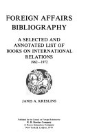 Foreign Affairs Bibliography PDF