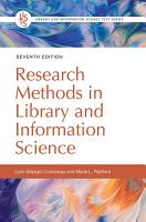 Research Methods in Library and Information Science  7th Edition PDF