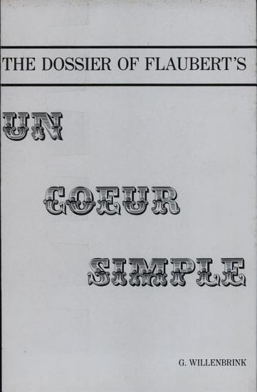 The Dossier of Flaubert s Un Coeur Simple PDF