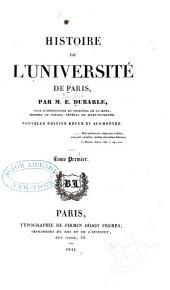 Histoire de l'Université de Paris: Volume1