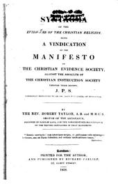 Syntagma of the Evidences of the Christian Religion