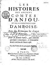 Les Histoires des anciens comtes d'Anjou et de la construction d'Amboise