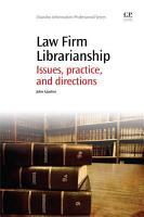 Law Firm Librarianship PDF