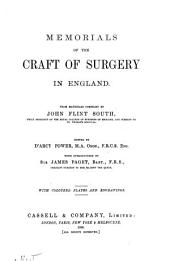 Memorials of the Craft of Surgery in England
