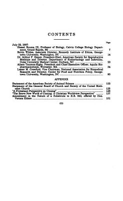 The Prohibition of Federal Government Funding of Human Cloning Research PDF
