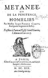 Métanée ou de la pénitence: Homélies prêchées à Paris en l'église Saint Séverin l'Advent de l'an 1617