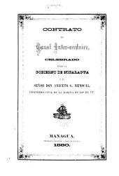 Contrato de Canal inter-oceánico: celebrado entre el Gobierno de Nicaragua y el señor Don Aniceto G. Menocal