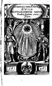Stella notariorum nova radiis septem corruscans