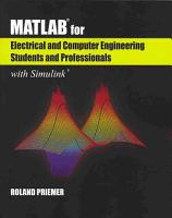 MATLAB   for Electrical and Computer Engineering Students and Professionals PDF