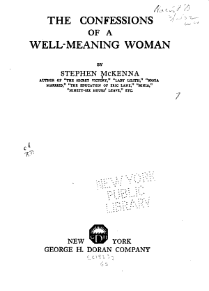 The Confessions of a Well meaning Woman PDF