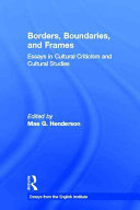 Borders  Boundaries  and Frames PDF