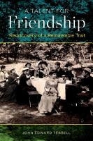 A Talent for Friendship PDF