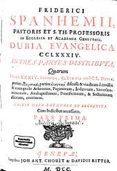 Dubia evangelica: Volume 1