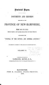 Provincial and State Papers: Volume 3