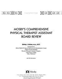 Mosby s Comprehensive Physical Therapist Assistant Board Review PDF