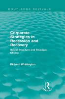 Corporate Strategies in Recession and Recovery  Routledge Revivals  PDF