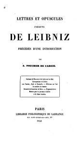 Lettres et opuscules inédites